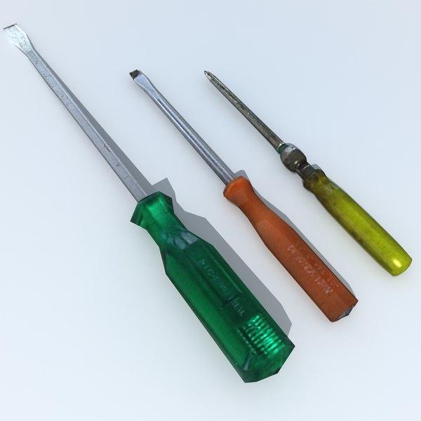 3ds max screwdriver screw