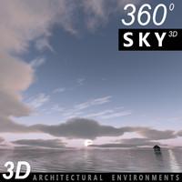 Sky 3D Sunset 063
