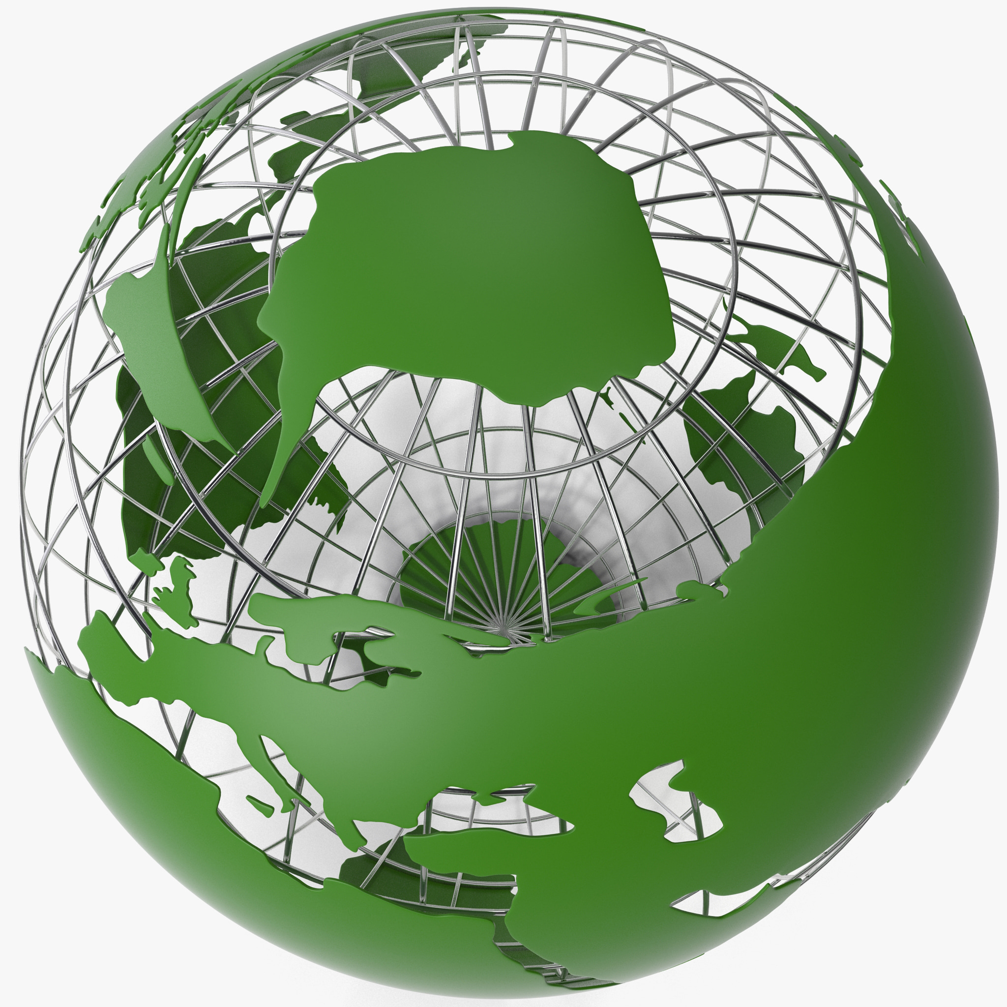 stylized world modeled mapped 3d model