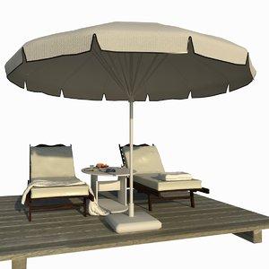 sunbed scene 3d model