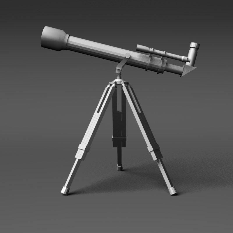 3d model hobby telescope