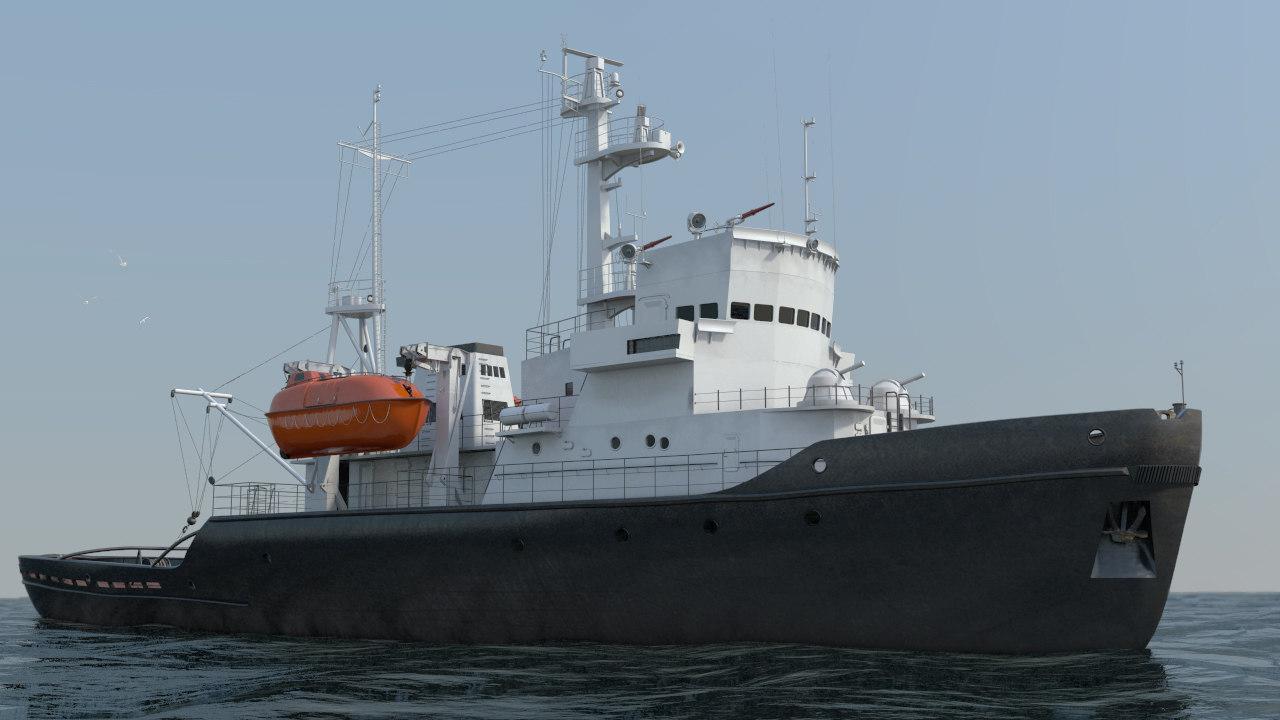 tugboat 745 3d model