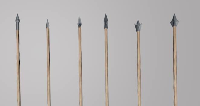 6 arrows different c4d