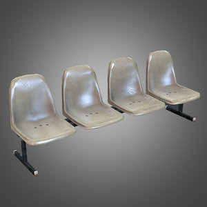3d laundromat bench chairs
