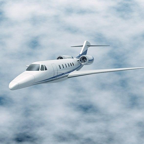3d model jet cessna citation