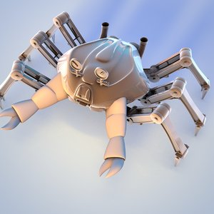 cinema4d crab robot