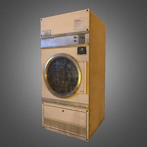 3d model laundromat dryer