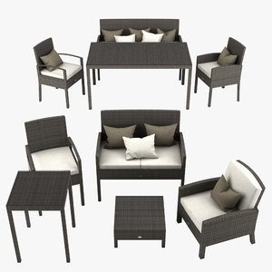 3ds max garden furniture