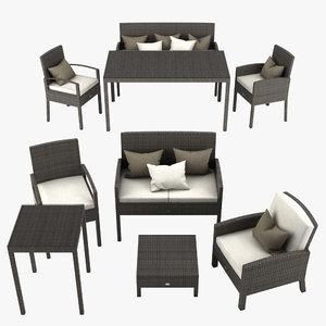 3ds max garden furniture