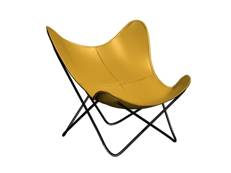 3d butterfly chair bkf model