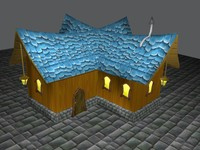 Low Poly Fantasy House Dual Pack
