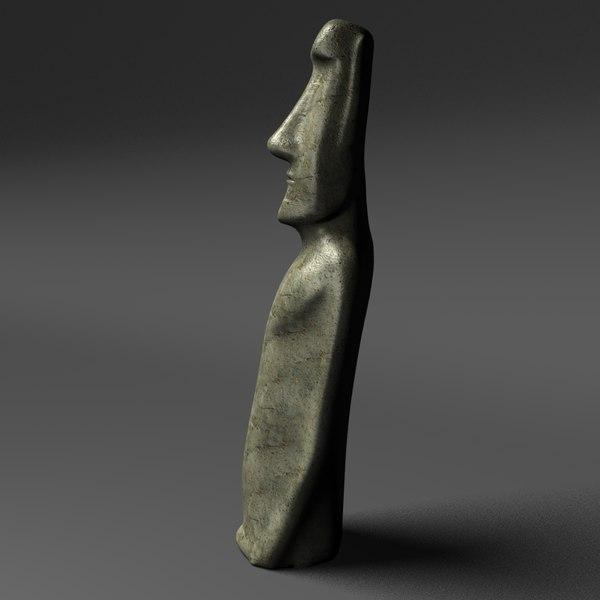 historically moai sculpture 3d model