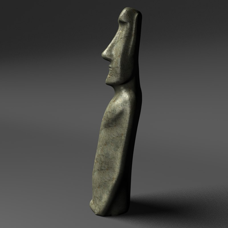 historically moai sculpture 3d model