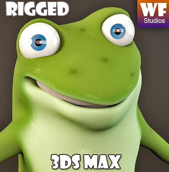 3d cartoon character frog model