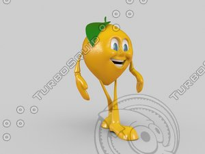 3d lemon character