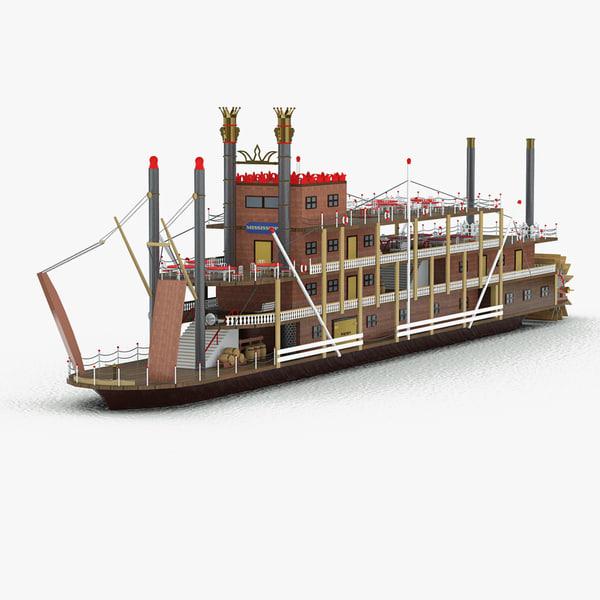 mississippi paddle ship max