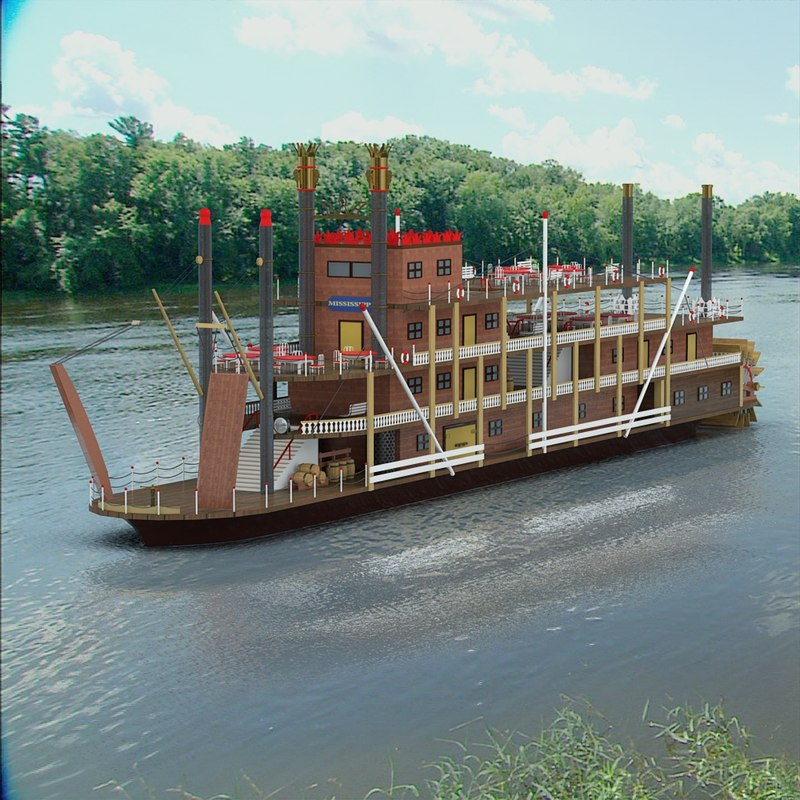 mississippi paddle ship max