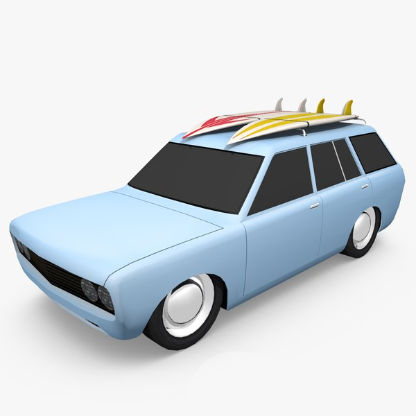 3d model datsun wagon