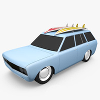 3d model datsun wagon