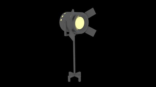 low-poly spotlight 3d 3ds