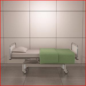 hospital bed 3d max