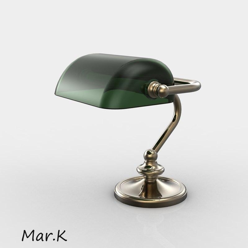 3d brass table lamp boss