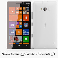 Nokia Lumia 930 White - Elements 3D