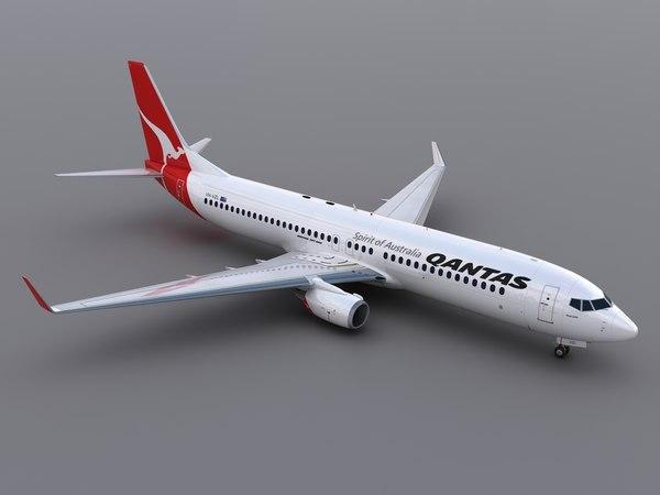 3dsmax aircraft qantas