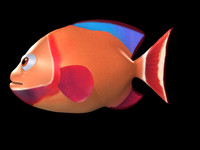 3d cartoon fish model