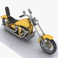 3d cartoon motorcycle motor