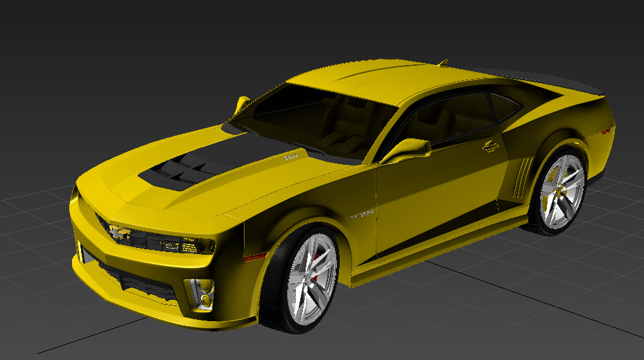 3d model chevrolet camaro 2013