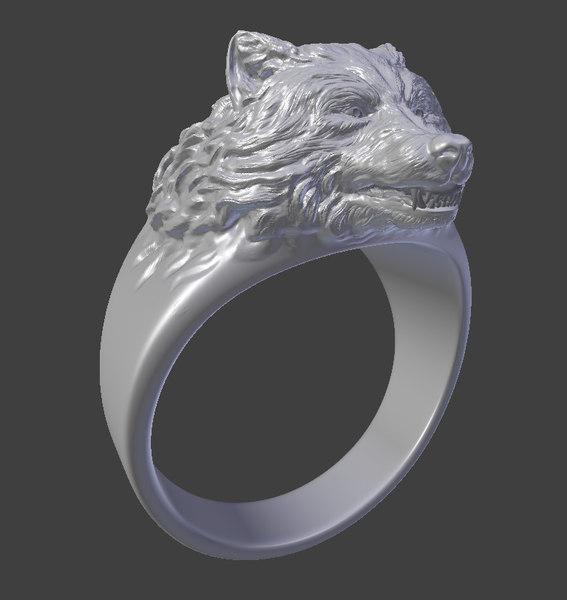 ring wolfs obj