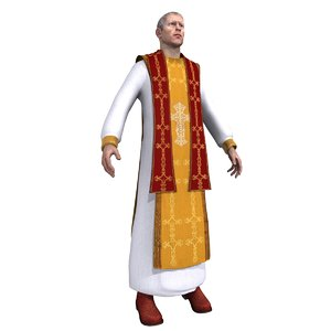 catholic priest 3d max