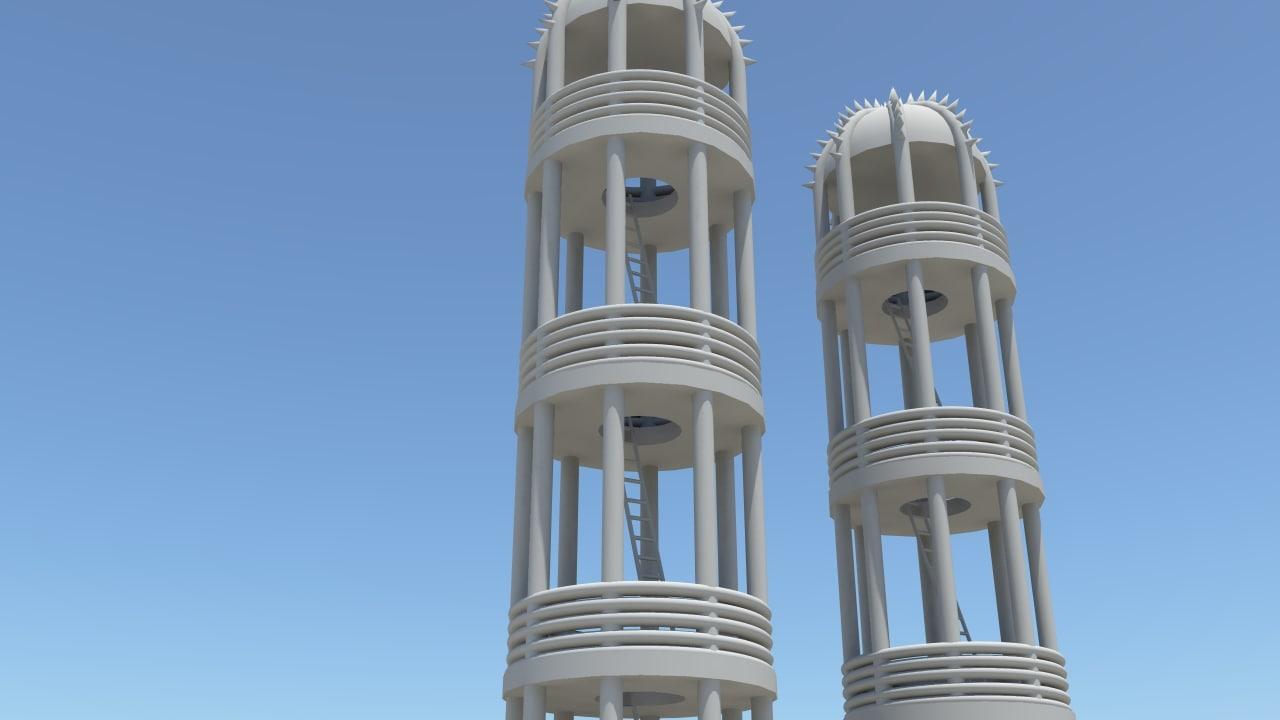 guard tower 3d obj