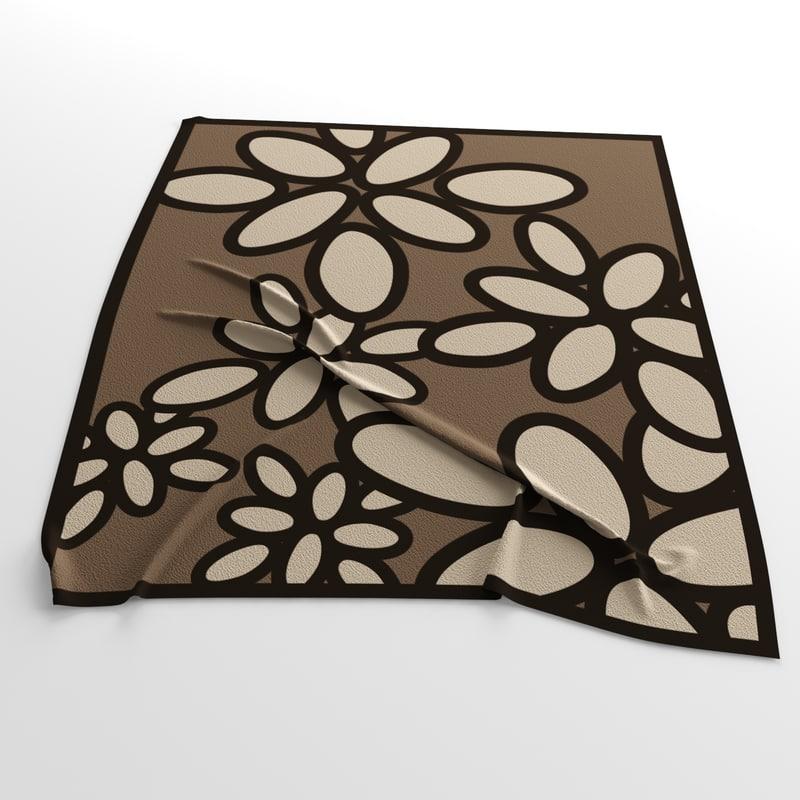 carpet calligaris daisy 3d model
