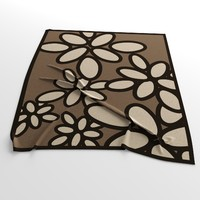 carpet calligaris daisy 3d model