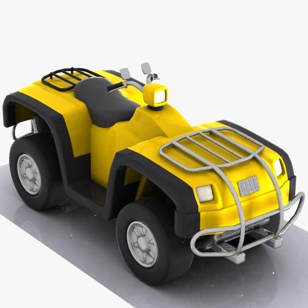 cartoon atv car 3d model
