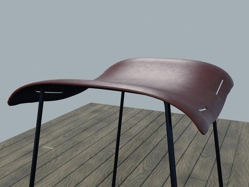 3d max modern bar stool