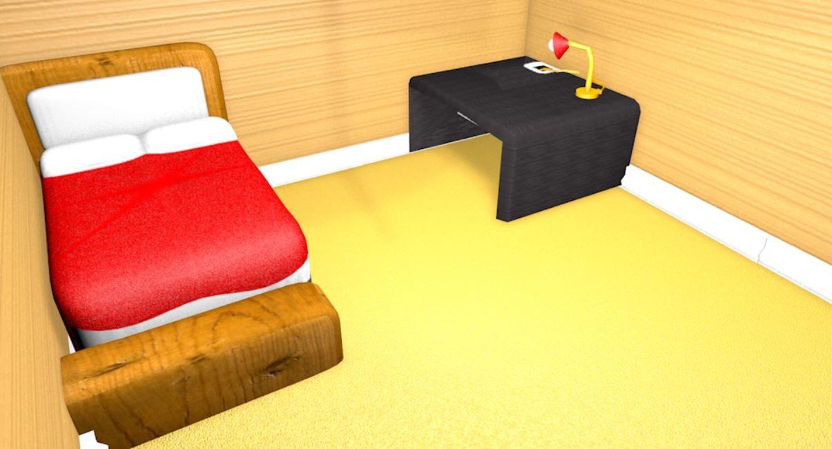 3d c4d simple room