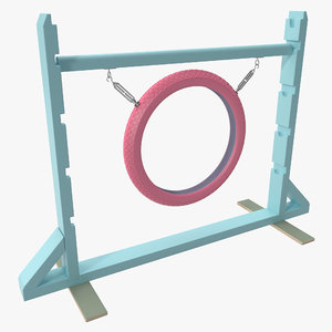 3d dog agility tire jump model
