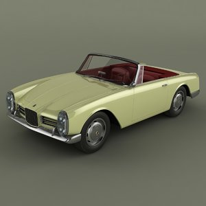 3d model facel vega iii convertible