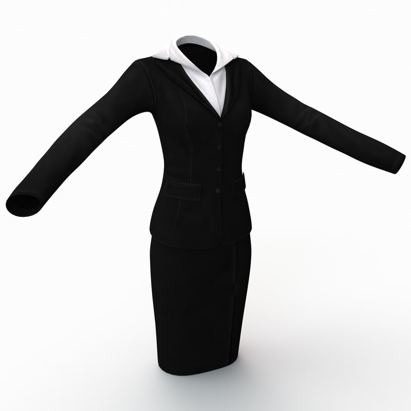 3dsmax female business clothes