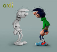 gaston lagaffe franquin 3d model