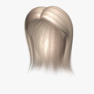 barbara hair human character 3d obj