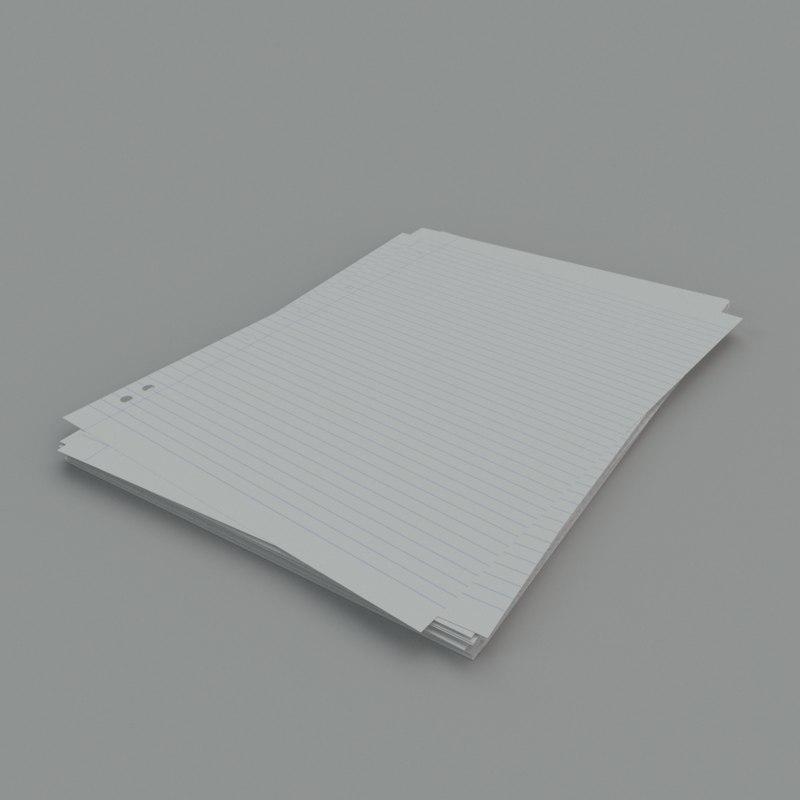 3d stack a4 paper