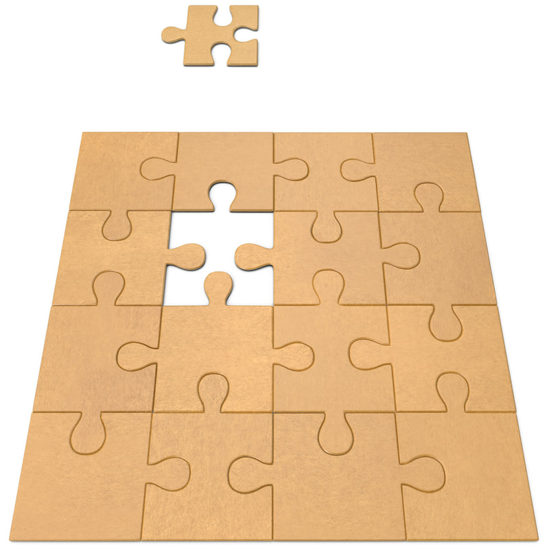 jigsaw puzzle 3d model