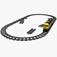 3d lego train set model