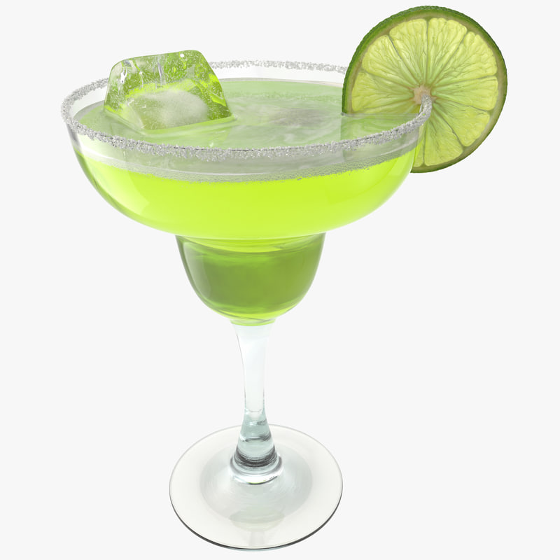 3d model of margarita glass