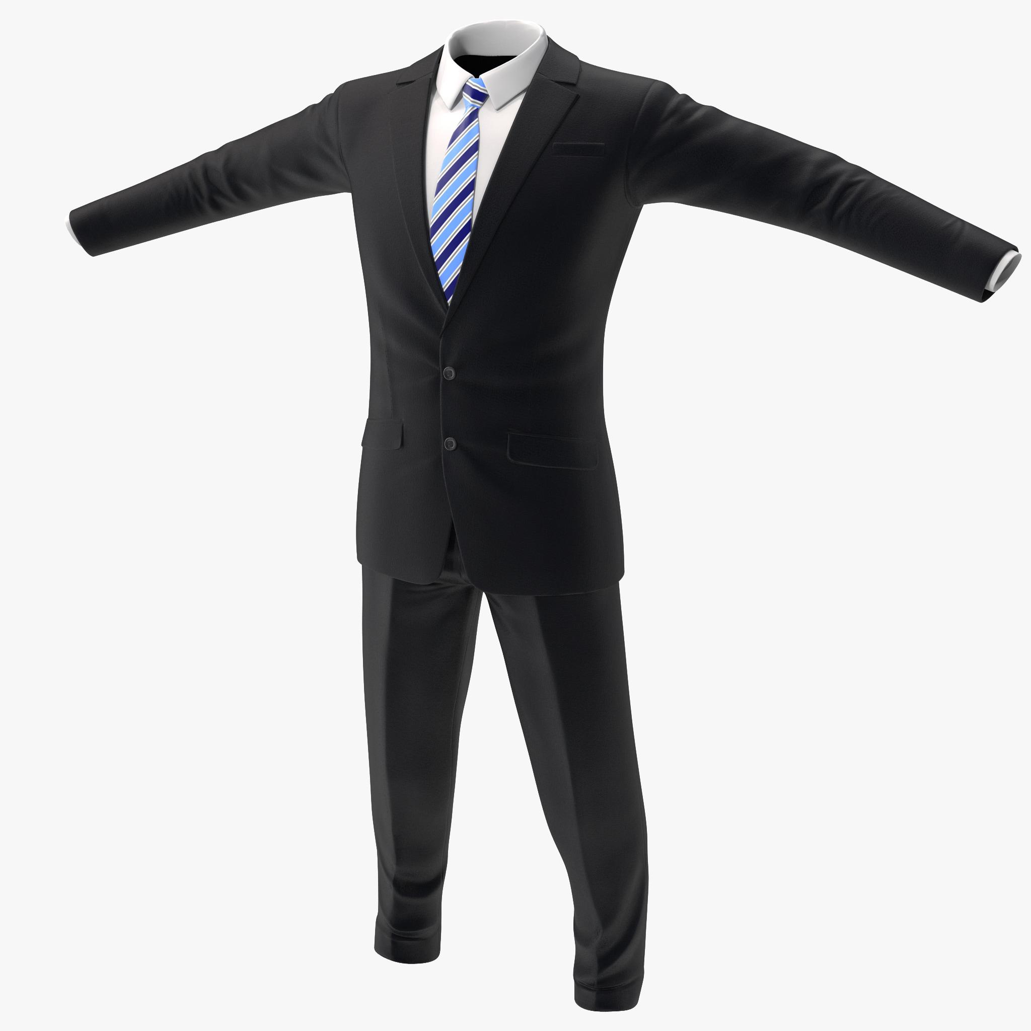 3d men suit 6 version model