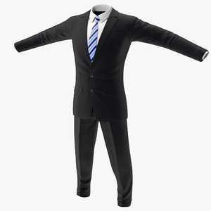 3d men suit 6 version model